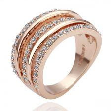 Дамски пръстен  ТРОЙНА СПИРАЛА Zerga Collection,18KG R04607