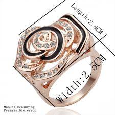 Дамски пръстен КРАСИВА РОЗА от Zerga Brand, 18KG R08792