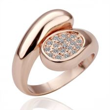 Дамски пръстен КРИСТАЛЕН ОВАЛ - Zerga Jewelry, 18KG R03754