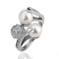 Дамски пръстен Перлени Топчета - Zerga Jewelry, 18KG R09805