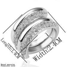 ZG R13199 Дамски пръстен ДВОЙНА СПИРАЛА - Zerga Collection, бяло златно покритие