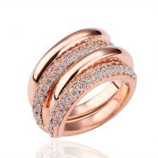 Дамски пръстен ДВОЙНА СПИРАЛА, Zerga Brand, розово злато, ZG R15200