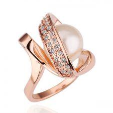 Дамски пръстен НЕЖНА ПЕРЛА! Zerga Jewelry - розово златно покритие, 18KG R14690