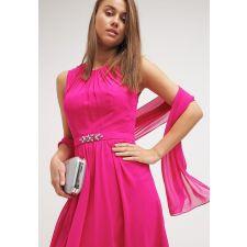 Официална рокля MASCARA с кристали, цвят розов, Размер S, Код DD0115
