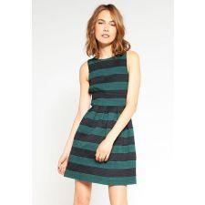 Елегантна дамска рокля MINT&BERRY цвят зелено/черно, Размер S, Код DD0104