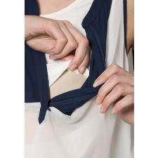 Дамски топ MAMA LICIOUS за бременни в цвят крем, Размер XL, Код BL0141