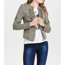 Ефектно дамско яке ONLY  в масленозелен цвят, Размер XS, Код JA916