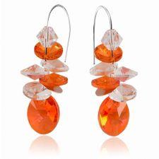 Бижута с кристали Swarovski® OVAL STRING Astral Pink**, Оранжев, Колие и Обеци, Код PR S406
