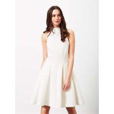 Екстравагантна рокля MISS SELFRIDGE от плътна материя в кремаво бяло, Размер M, Код DD0158