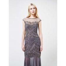 Бална рокля MISS SELFRIDGE с пайети в сив цвят, Код DD0060