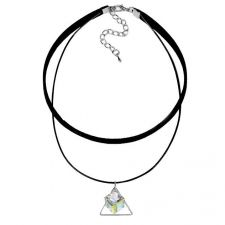 Чоукър колие Charming Choker Swarovski® CUBE 8мм Crystal AB, Бял цвят, Код PR N504