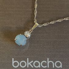 Колие MAGIC с кристали SWAROVSKI® CHATON, Air Blue Opal, Син цвят, Код PR N572