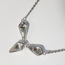 Колие с кристали SWAROVSKI® KITE Crystal - Бял цвят 14 мм, Код PR N606B