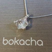 Колие с кристали SWAROVSKI® CUBE 8мм Crystal, Бял, Код PR N582