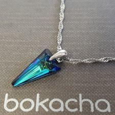 Колие с кристали SWAROVSKI® SPIKE 18 мм, Bermuda Blue BBL - Син цвят, Код PR N615