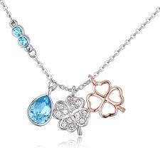 Колие SUERTE BLUE със SWAROVSKI® Crystals, Zerga Brand, Код ZG N549