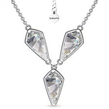 Колие с кристали SWAROVSKI® KITE Crystal - Бял цвят 14 мм, Код PR N606B