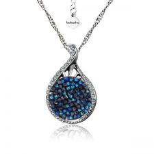 Колие GRACE с кристали SWAROVSKI® CRYSTAL ROCK 15мм, Bermuda Blue BBL - Син, Код PR N565