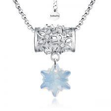 Колие FLOWER WAY SWAROVSKI®  EDELWEISS 14мм  White Opal - Опал, Код PR N470