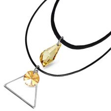 Чоукър колие Charming Choker Swarovski® POLYGON DROP 17мм Golden Shadow**, Натурален, Код PR N524