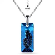 Колие с кристали SWAROVSKI® Growing Crystal RECTANGLE 26 мм, Bermuda Blue BBL, Син, Код PR N609