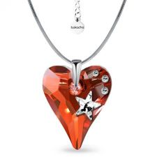 Колие STAR с кристали SWAROVSKI® WILD HEART Red Magma**,Червен цвят, Код PR N577
