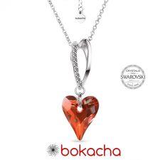 Колие VALENTINE с кристали SWAROVSKI® WILD HEART, Red Magma**- Червен, Код PR N691