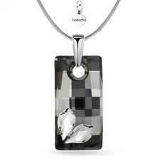 Колие STAR с кристали SWAROVSKI® URBAN 20мм Silver Night** AB - Черен, Код PR N580