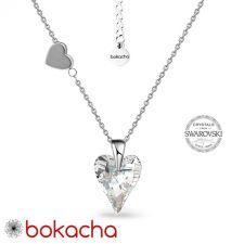 Колие LOVE STORY с кристали SWAROVSKI® WILD HEART, Crystal, Бял, Код PR N694
