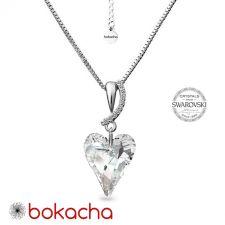Колие CRYSTAL с кристали SWAROVSKI® WILD HEART, Crystal - Бял, Код PR N693