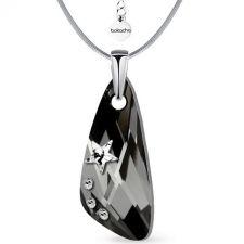 Колие STAR с кристали SWAROVSKI® WING 23мм Silver Night** AB - Черен, Код PR N554