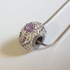 Колие с талисман ЦВЕТЕ НА ЖЕЛАНИЕТО, Swarovski® Pave Beads, Код PR N527