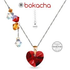 Колие CANDY HEART с кристали SWAROVSKI®, Multi/ Light Siam AB, Червен, Код PR N685