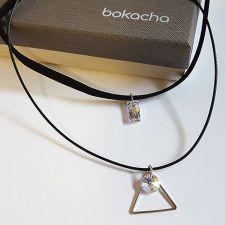 Чоукър колие Charming Choker Swarovski® QUEEN Baguette 13,5мм Crystal Aurore Boreale** AB - Бял цвят, Код PR N502