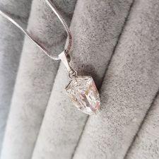 Колие SWAROVSKI® SLIM TRILLIANT, ръчна изработка в Crystal - Бял цвят, Код PR N547