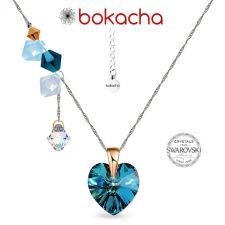 Колие CANDY HEART с кристали SWAROVSKI®, Multi/ Bermuda Blue BBL, Син, Код PR N683
