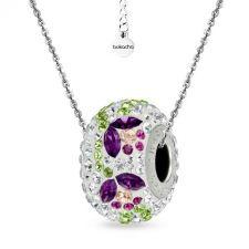 Колие с талисман ВЪЛШЕБНА ГРАДИНА, Swarovski® Pave Beads, Код PR N531