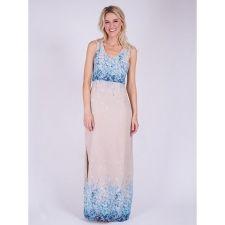 Дълга ежедневна рокля DRY LAKE с флорални мотиви, Код DD0046
