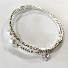 Гривна SWAROVSKI® RIVOLI CIRCLE Crystal AB 8мм, Бял, Код PR B016A