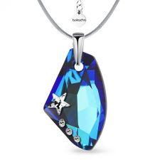 Колие STAR с кристали SWAROVSKI® GALACTIC 19мм Bermuda Blue BBL, Crystal, Син, Код PR N549