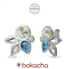 Обеци DIVNA украсени с кристали SWAROVSKI®, Multi / Aquamarine AB, Светло син цвят, Код PR E666