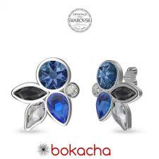 Обеци DIVNA украсени с кристали SWAROVSKI®, Multi / Montana, Син цвят, Код PR E664
