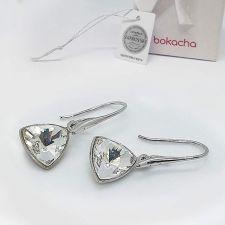 Комплект бижута с кристали SWAROVSKI® KALEIDOSCOPE TRIANGLE, Crystal, Бял цвят, Колие и Обеци, Код PR S701