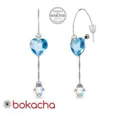 Обеци CANDY HEART с кристали Swarovski®, Aquamarine AB - Светлосин, Код PR E680
