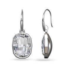 Обеци с кристали SWAROVSKI® GRAPHIC в Crystal - Бял цвят, Код PR E641A