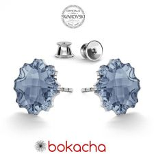 Обеци с кристали Swarovski® JELLY FISH Blue Shade**, Син цвят, Код PR E539