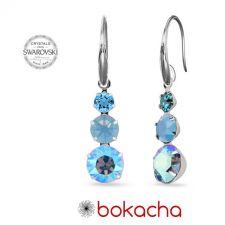 Висящи обеци Magic с кристали SWAROVSKI® CHATON, Air Blue Opal,Син цвят, Код PR E634