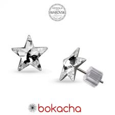 Обеци STAR украсени със SWAROVSKI® кристали 5мм Crystal, Бял, Код PRFNO E560