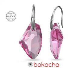 Обеци с кристали Swarovski® GALACTIC 19мм Light Rose- Розов, Код PR E540