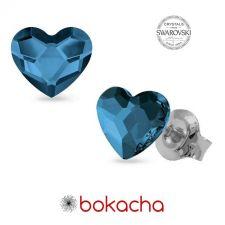 Обеци с кристали SWAROVSKI® ЛЮБОВНА МАГИЯ, Denim Blue Crystal, Син цвят, Код PR E556